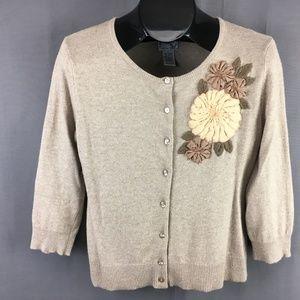 Anthropologie Tabitha Cardigan Sweater Large Women